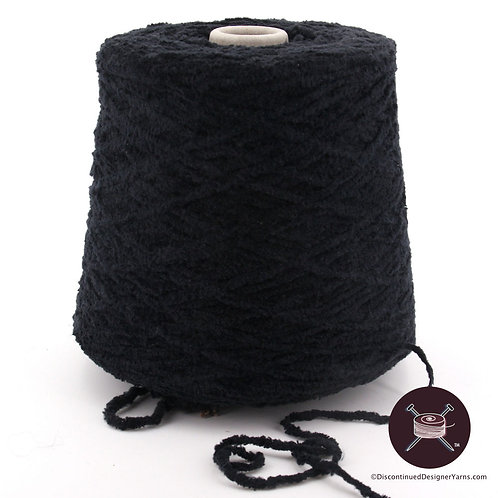 black cotton chenille yarn