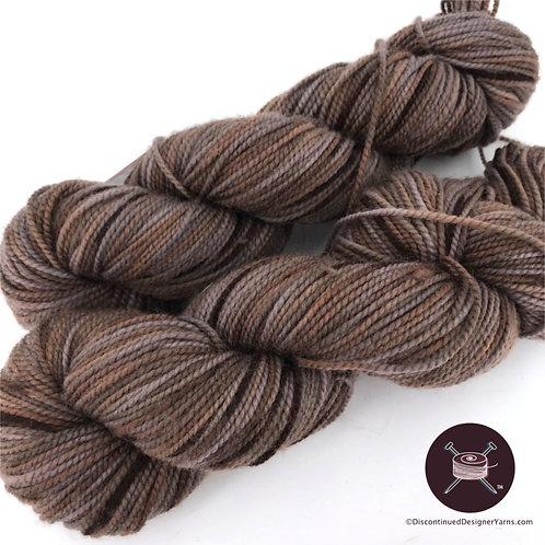 Happy Feet brown gray fingering weight yarn