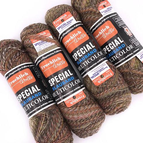 Vintage sock yarn, terra cotta browns