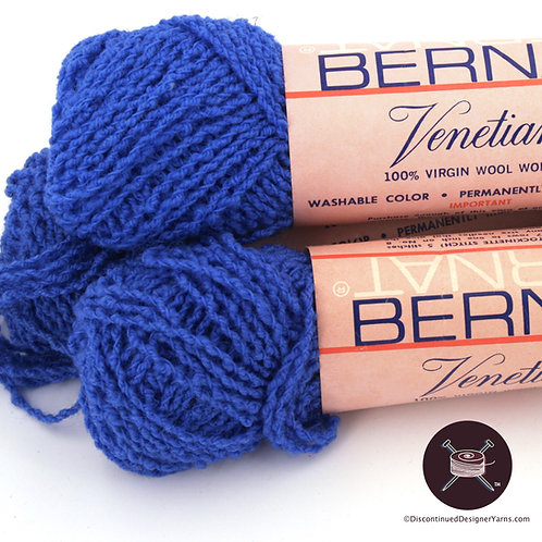 Cobalt blue wool boucle vintage yarn