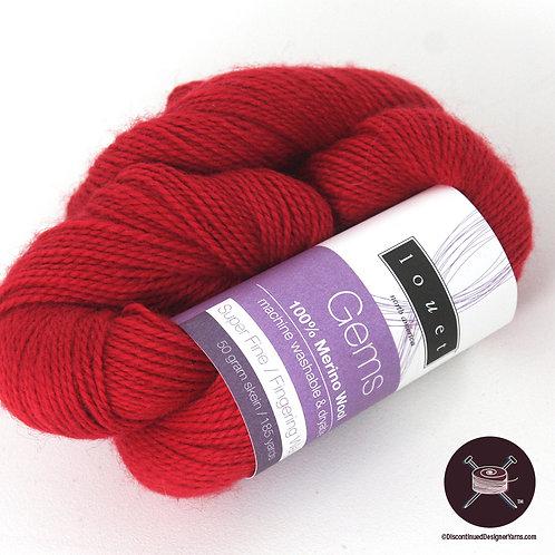 bright red merino fingering weight yarn