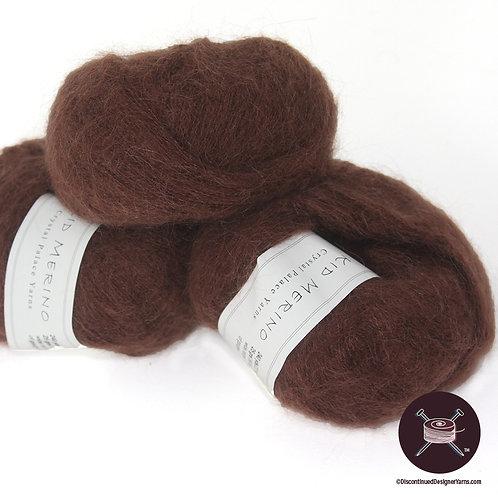 medium cocoa brown kid mohair laceweight yarn