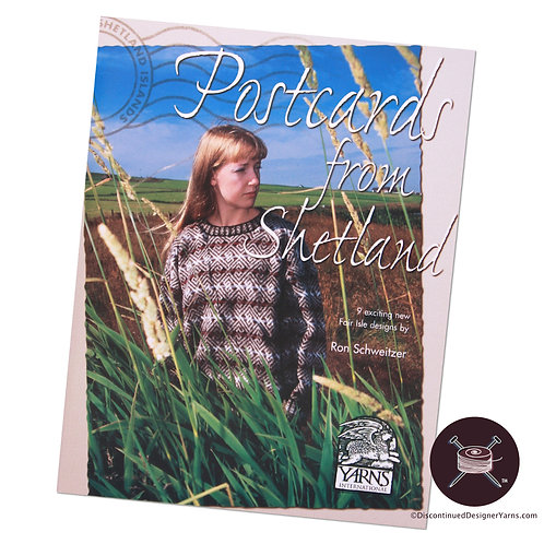 Shetland fairisle knitting pattern book, Ron Schweitzer