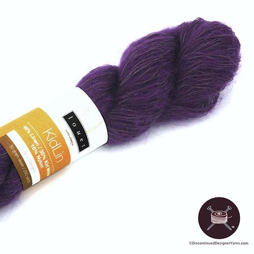 Louet KidLin linen mohair purple yarn laceweight