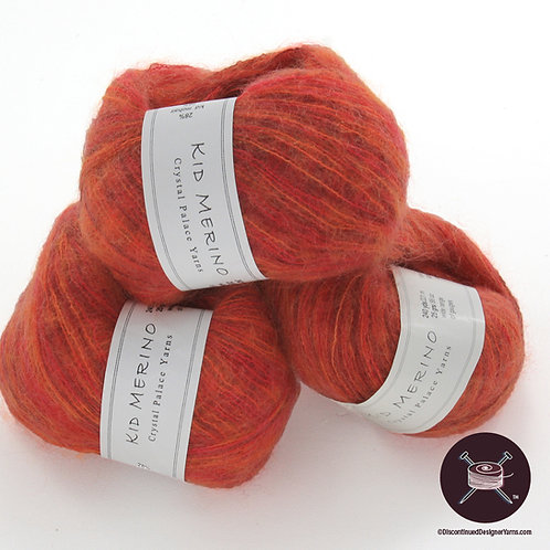 red cinnamon orange laceweight mohair yarn