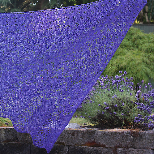 A Bias for Lace knitted shawl pdf pattern