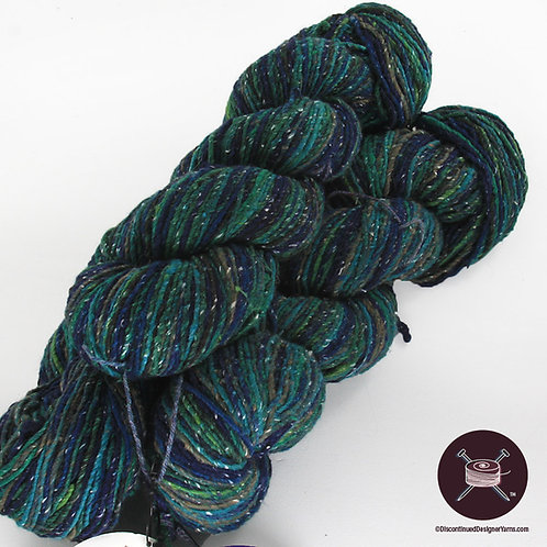 deep blues and greens cotton Kudo yarn