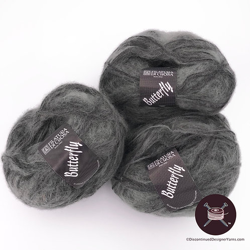 Soft kid mohair blend grey mix yarn