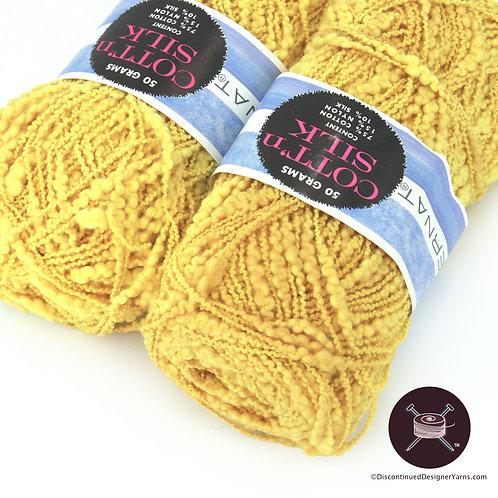 Bright yellow textured cotton/silk yarn