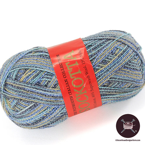 denim blue sock yarn - cotton and wool