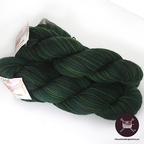 Heritage Handpainted Sock Yarn - Forest Green - 3 avail