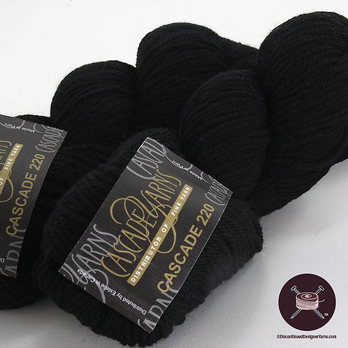 Basic black worsted weight wool from Cascade Yarns