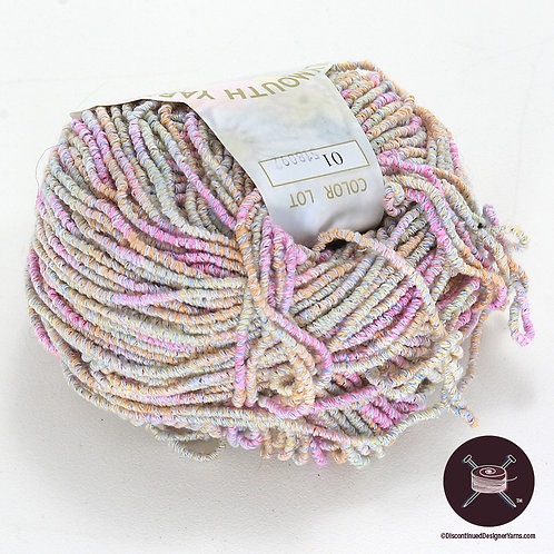 pastel bamboo yarn, wrapped texture