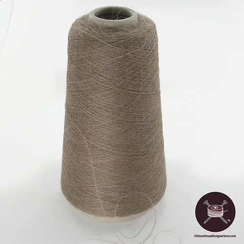 cobweb weight mohair yarn, dark taupe