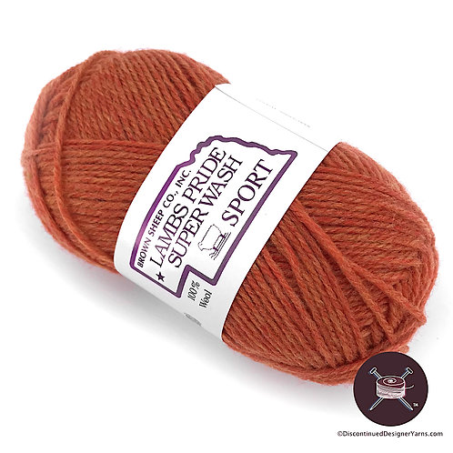 Lamb's Pride superwash sportweight yarn, rust