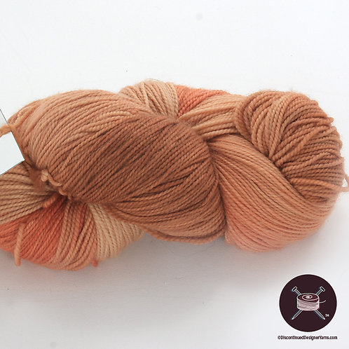 adobe clay handdyed sock yarn, merino fiber