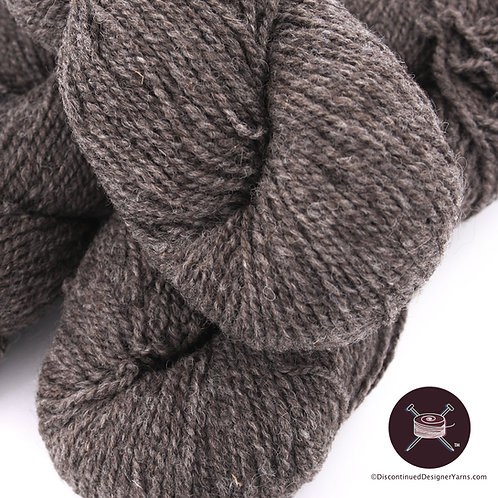 rustic 100% wool 2 ply yarn worsted weight dark grey