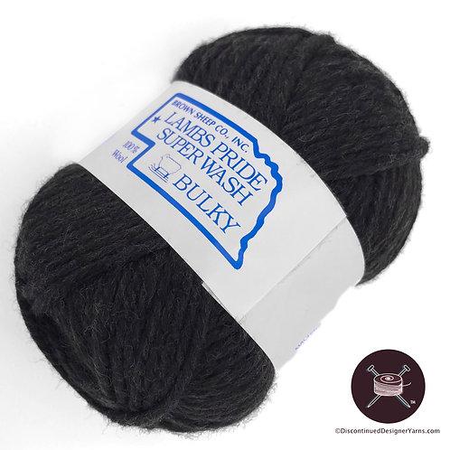 Lamb's Pride superwash bulky dark grey yarn
