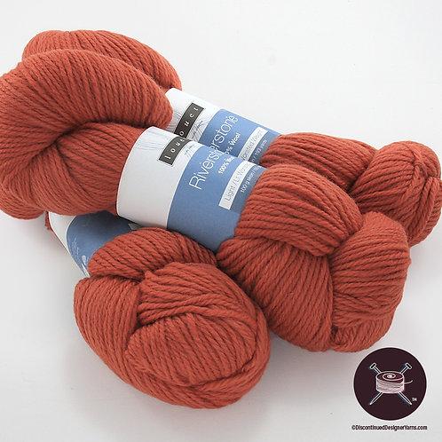 orange-rust wool worsted weight yarn
