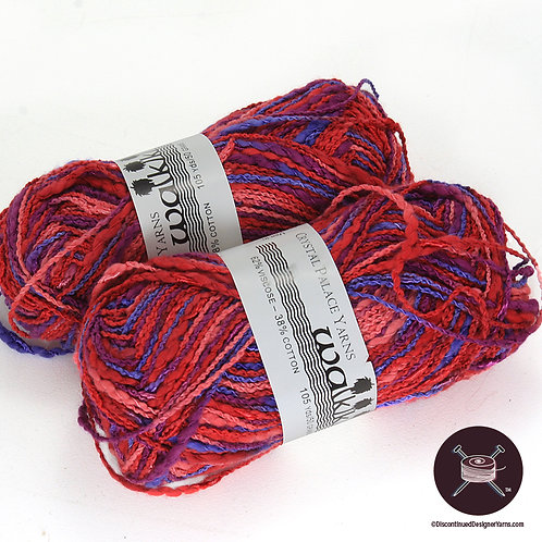 Red, orchid and pink textured yarn