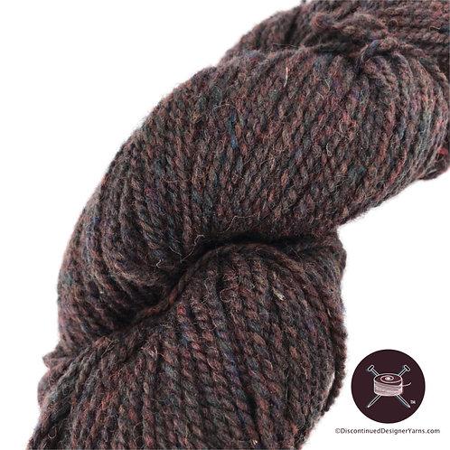 complex brown 2 ply wool yarn