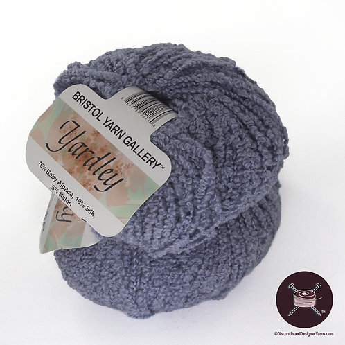 periwinkle lavender blue baby alpaca boucle with silk