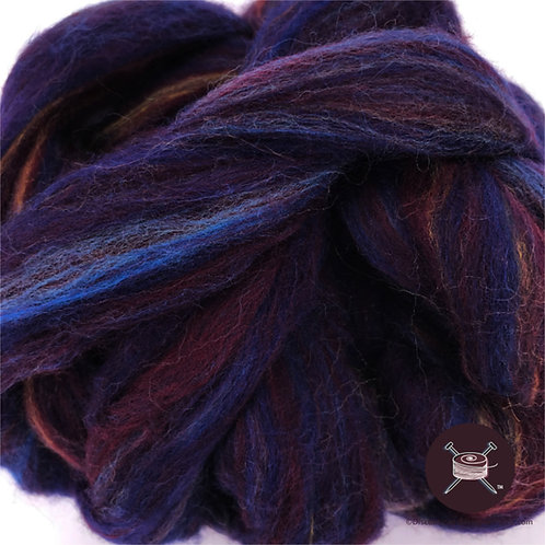 Midnight blue mix roving