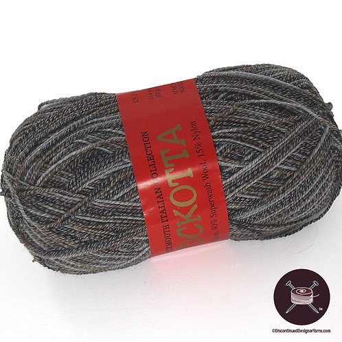 gray brown cotton/wool sock yarn tweed