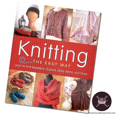 Knitting the Easy Way book cover, knitting instruction and patterns