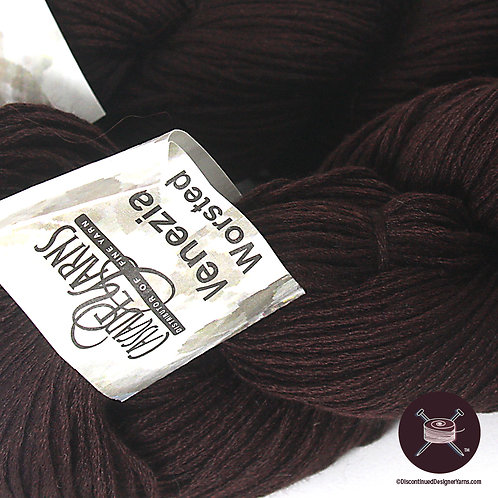 dark chocolate wool and silk yarn