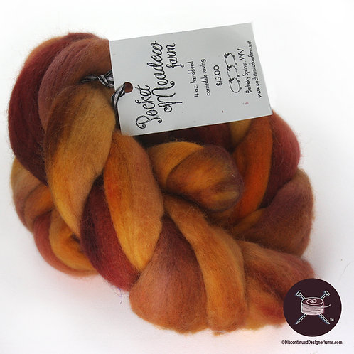 handdyed autumn colors corriedale roving