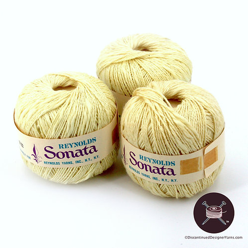 Reynolds Sonata linen/cotton - butter - 7 avail