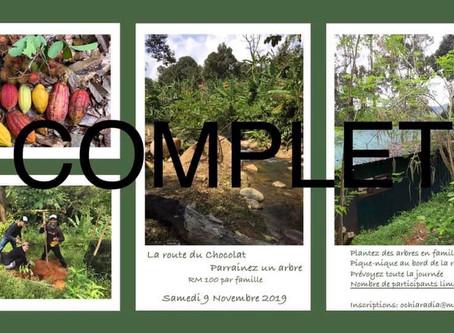Route du chocolat - Parrainez un arbre le 9 novembre