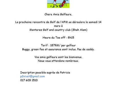 Golf le 14 mars - Monterez Golf