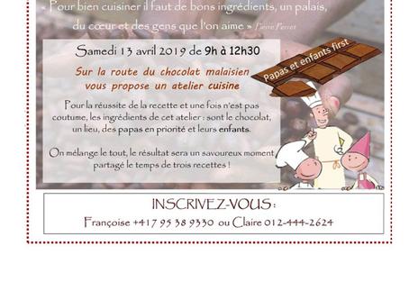 Atelier gourmand « papas et enfants », samedi 13 avril
