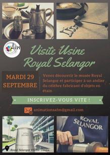 Visite de l'usine Royal Selangor le 29 septembre