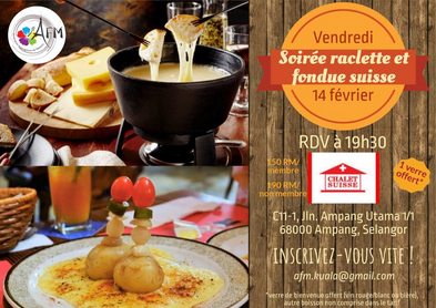Soirée Raclette-fondue le 14 février
