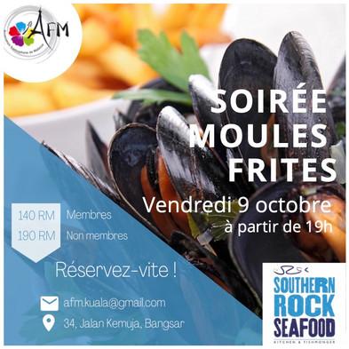 Soirée Moules-Frites le 9 octobre