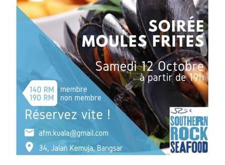 Soirée Moules-Frites le 12 octobre
