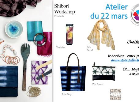Shibori workshop le 22 mars