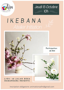 Atelier IKEBANA 15 octobre