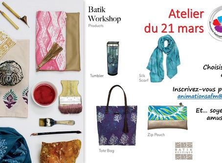 Batik Workshop le 21 mars