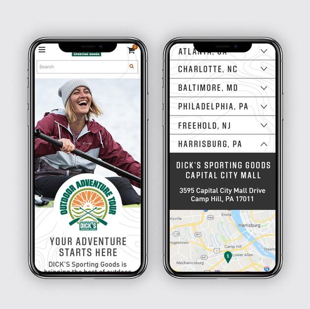Outdoor Adventure Tour Mobile Design