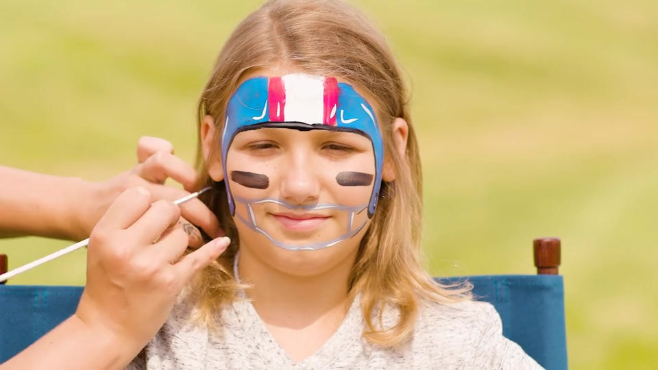 DICK'S Sporting Goods Football Helmet Face Paint Design