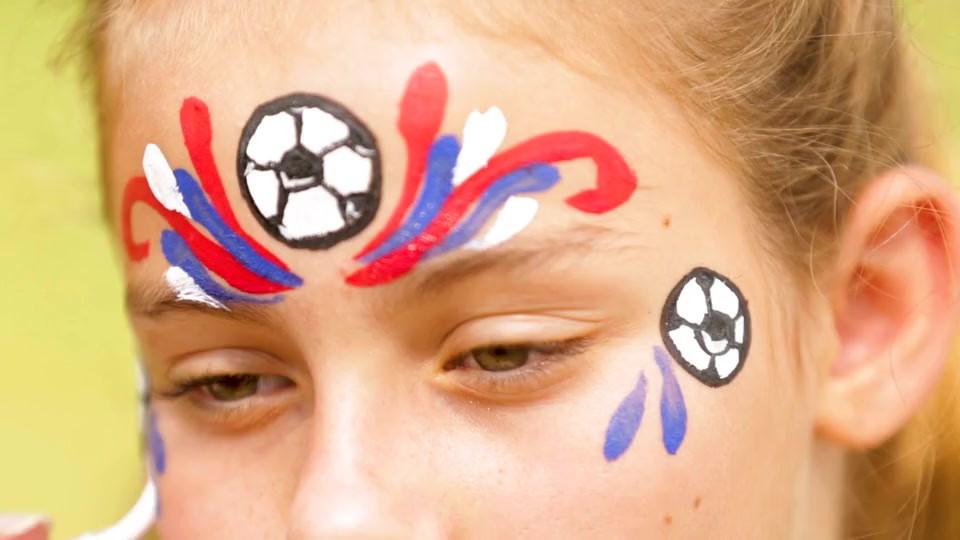DICK'S Sporting Goods Soccer Face Paint Design