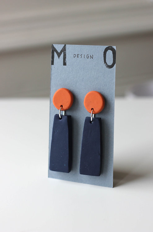 Blue and Terracotta Drops