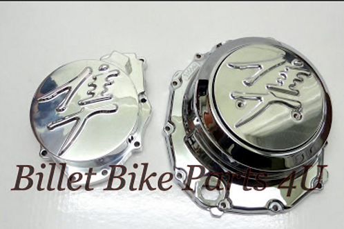 Hayabusa 3D Chrome Stator & Derby Cover