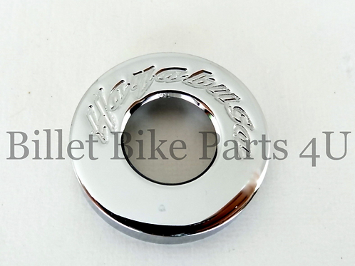 Chrome Engraved Tail Lock Cap Rear Latch Cover
