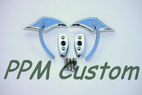 Chrome Eagle Beak Mirrors With Base Plates