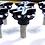 Thumbnail: Black Scallop Ball Cut 3D Fairing Bolt Kit 6pc